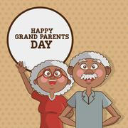 Grandparents design, vector illustration, vector illustration - stock illustration