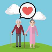 Grandparents design, people vector, vector illustration - stock illustration