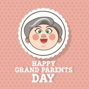 Grandparents design, people vector, vector illustration - stock illustration