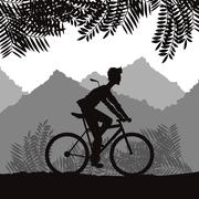 Ride a bike design , vector illustration Stock Illustration