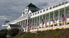 Grand Hotel Mackinac Island no flag - stock footage