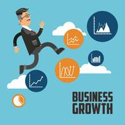 Business growth design , vector illustration - stock illustration