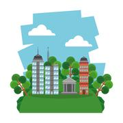 Nature city design , vector illustration - stock illustration