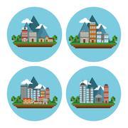 Nature city design , vector illustration Stock Illustration