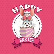 Happy easter design , vector illustration Stock Illustration