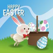 Happy easter design , vector illustration - stock illustration