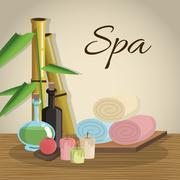 Spa center design , vector illustration - stock illustration
