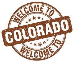 Welcome to Colorado brown round vintage stamp Piirros