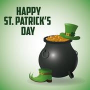 St Patricks day design - stock illustration