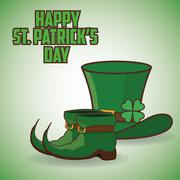 St Patricks day design - stock illustration