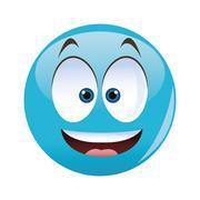 Cartoon face design , vector illustration Stock Illustration
