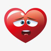 Heart shape cartoon - stock illustration