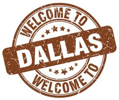 Welcome to Dallas brown round vintage stamp Stock Illustration
