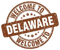 Welcome to Delaware brown round vintage stamp Piirros