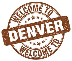 Welcome to Denver brown round vintage stamp Piirros