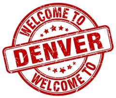 Welcome to Denver red round vintage stamp Piirros