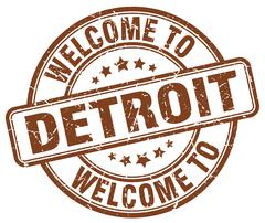 Welcome to Detroit brown round vintage stamp Piirros
