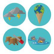 Global warming design Stock Illustration
