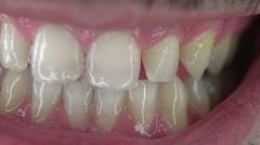 Spooky teeth macro Stock Footage