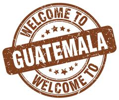 Welcome to Guatemala brown round vintage stamp Stock Illustration