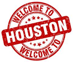 Welcome to Houston red round vintage stamp Piirros