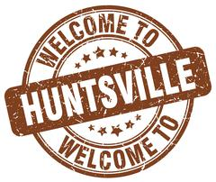 Welcome to Huntsville brown round vintage stamp Piirros