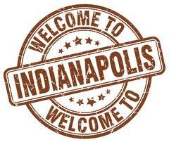Welcome to Indianapolis brown round vintage stamp Piirros