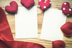 Blank paper for writing message - stock photo