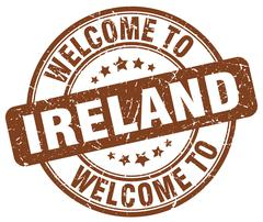 Welcome to Ireland brown round vintage stamp Piirros