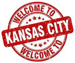 Welcome to Kansas City red round vintage stamp Piirros
