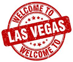 Welcome to Las Vegas red round vintage stamp Piirros