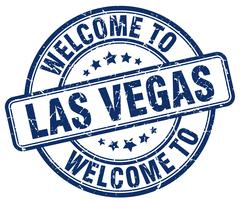 Welcome to Las Vegas blue round vintage stamp Piirros