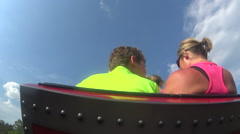 Time Lapse Roller Coaster Ride - stock footage