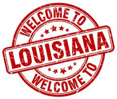 Welcome to Louisiana red round vintage stamp Stock Illustration