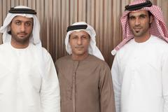 Three middle eastern businessmen - stock photo