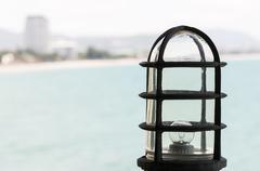 Old metal lamp - stock photo