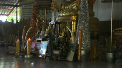 Interior of a Buddhist Temple Stock Footage