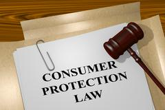 Consumer Protection Law legal concept Stock Illustration