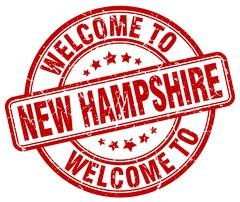 Welcome to New Hampshire red round vintage stamp Stock Illustration