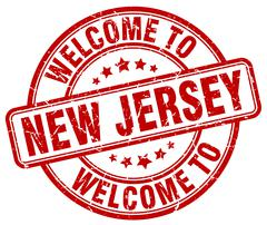 Welcome to New Jersey red round vintage stamp Piirros
