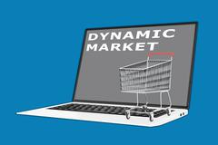 Dynamic Marketing concept - stock illustration