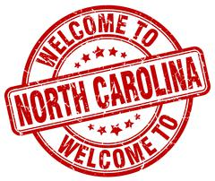 Welcome to North Carolina red round vintage stamp Piirros