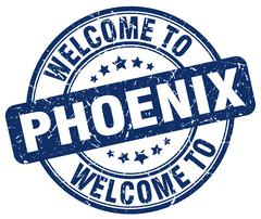 Welcome to Phoenix blue round vintage stamp Piirros