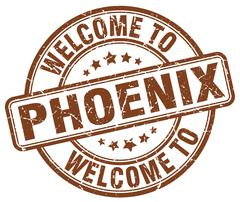 Welcome to Phoenix brown round vintage stamp Piirros