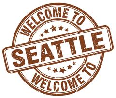 Welcome to Seattle brown round vintage stamp Piirros