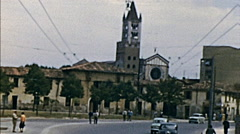 Verona 1958: driving in the street of the city Stock Footage
