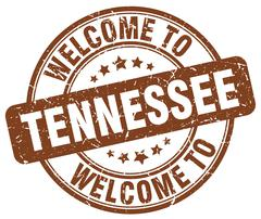 Welcome to Tennessee brown round vintage stamp Stock Illustration
