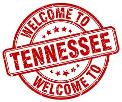 Welcome to Tennessee red round vintage stamp Stock Illustration