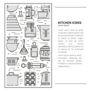 Vertical Pattern kitchenware - stock illustration