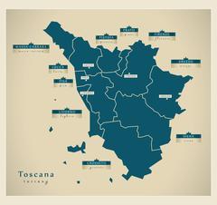 Modern Map - Toscana IT Stock Illustration
